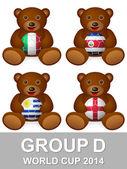World cup group D bear — Stockvector