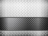 Rejilla y fondo metal diamante — Vector de stock