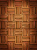 Wooden parquet — Stock Vector