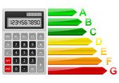 Energy efficiency calculator — Stock Vector