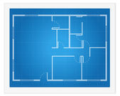 House plan blueprint — Stock Vector