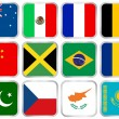 National flags square icon set 2 — Stock Vector #5378250