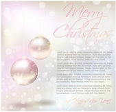 Christmas card with text sample — Vettoriale Stock
