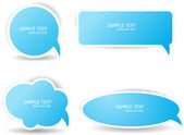Speech bubbles in blue color — Stock Vector