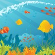 Underwater background — Stock Vector