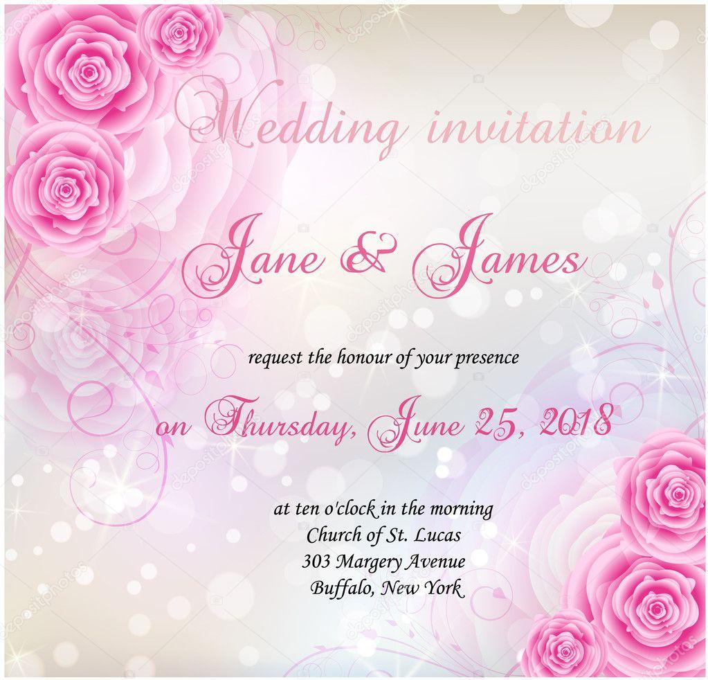 rose wedding invitation background - photo #4
