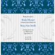 Royalty-Free Stock : Bridal shower invitation in beige and blue colors