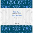 Royalty-Free Stock Vector: Bridal shower invitation in beige and blue colors
