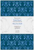 Bridal shower einladung in den farben beige und blau — Stockvektor
