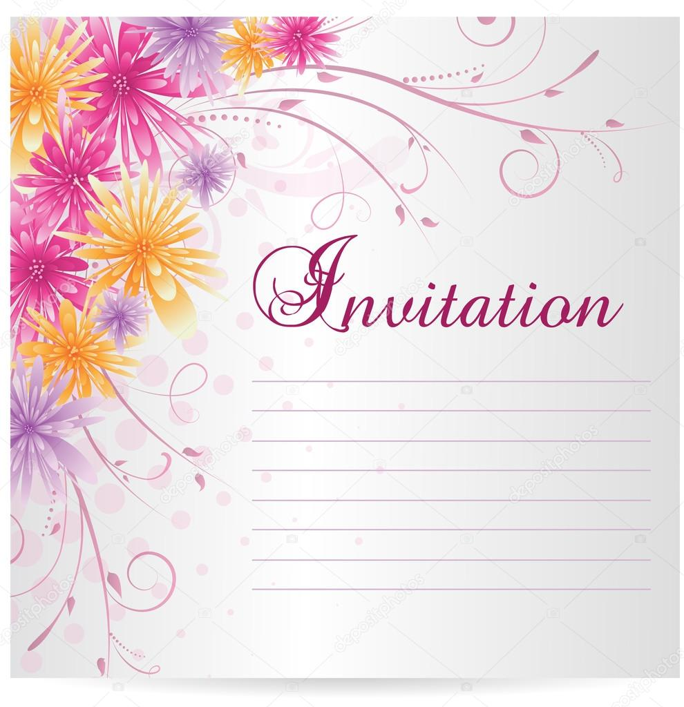 Wedding Invitation Templates Invitations Wedding Formal Wedding, Baptism Invitation  Template Baptism Invitation Blank Templates, Floral Invitation Card ...