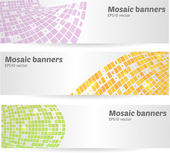 Set of mosaic banners — Stock Vector
