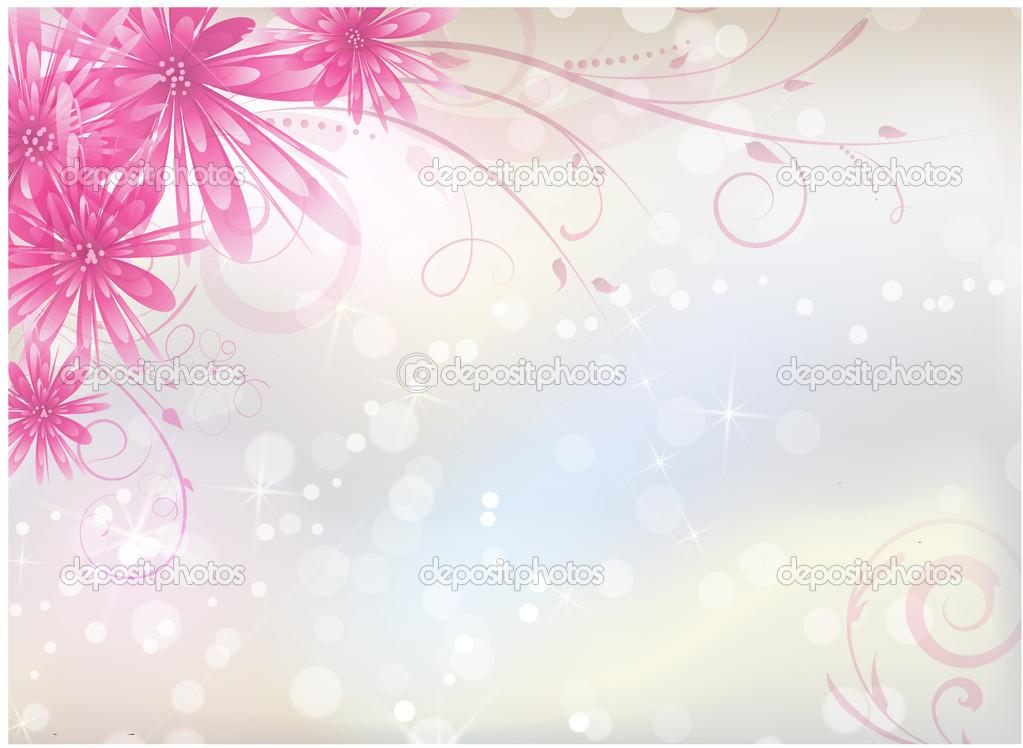 Fondo Claro Con Flores De Color Rosa Aster