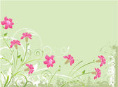 Floral green background — Stock Vector