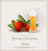 Special Christmas menu template — Stock Vector