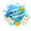 Summer holidays background — Stock Vector #43242055
