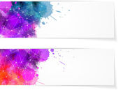 Two abstract modern banners — Vector de stock