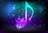 Shatterred musical note — Stockvector