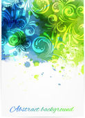 Swirly floral background — Stock Vector