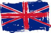 Grunge Britain flag — Stockvector