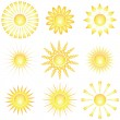 Decorative sun symbols. — Stock Vector #3335314