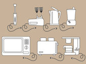 Household appliances, kitchen Electrical appliances. — Stock Photo