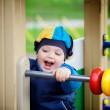 Boy Playing on Playground — Stock Photo