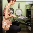 Woman Cooking — 图库照片