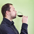 Man Drink Wine — Stock Photo