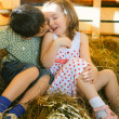 Children on Hayloft — Stock Photo