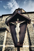 Crucifix in Kamenetz-Podolsk Church — Stock Photo