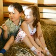 Royalty-Free Stock Photo: Children on Hayloft