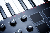 Digital Midi Keyboard — Stock Photo