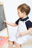 Child Drawing With Chalk — Foto Stock