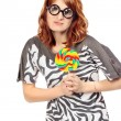 Crazy Woman With Lollipop — Stock Photo #25272403