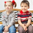 Stock Photo: Children on bench