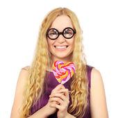Meisje met lolly — Stockfoto
