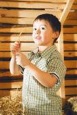 Samanlık çocuğu — Stok fotoğraf