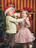 Happy Christmas Dance — Stock Photo