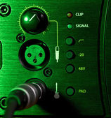 Amplifier Control Panel — Stockfoto