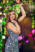 Beautiful Woman In Garden — Stock Photo
