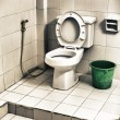 Dirty Toilet — Stock Photo #9354099