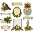 Royalty-Free Stock Photo: Vintage christmas decorative elements
