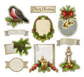Vintage christmas decorative elements — Stock Photo