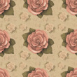 Vintage seamless pattern with rose — Stock Photo