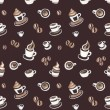 Seamless pattern with coffee beans and cups — Stock Photo #14381997