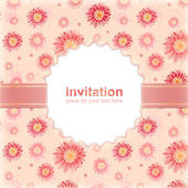 Elegant invitation to the wedding or announcements — Stock Photo