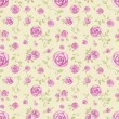 Vintage seamless pattern with watercolor roses — Stock Photo #15403967