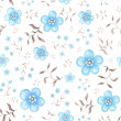 Seamless pattern with blue watercolor flowers — Stock Photo #15404129
