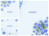 Elegant background with watercolor flowers — Stock Photo