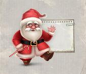 Přání s ukázkou santa claus — Stock fotografie